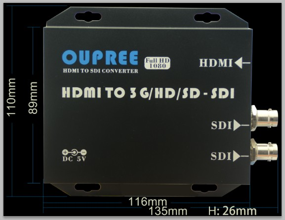 HDMI TO SDI Dimention