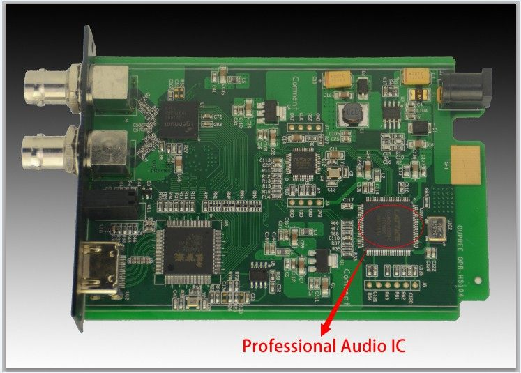 Professional audio processing module